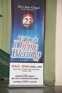Walking in Divine Blessings Banner