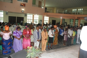 Congregation and Baby Dedication